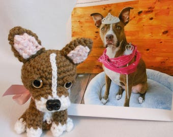 Crochet Dog, Custom Made to Look Like Owner's Dog, Canine, Stuffed Dog, Custom Dog, Pet Memorial, Pet Remembrance, Look Alike Dog