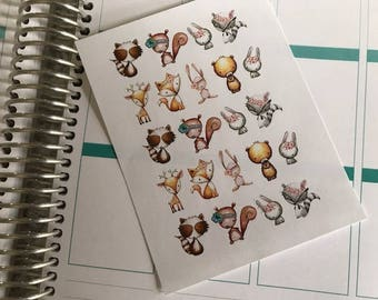 Tribal Animal Stickers, Fits Erin Condren Life Planner & Other Planners, Planner Stickers, Stickers, Animals Stickers, Fun Stickers