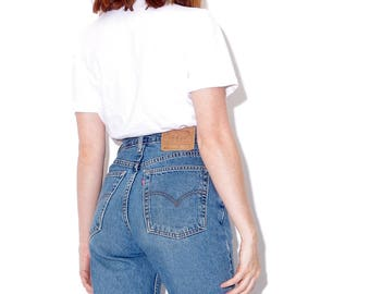 vintage LEVIS 512 levi 512 size medium 28 waist / AMAZING FIT high waisted jeans tapered jeans skinny jeans mom jeans 90s clothing 90s levis