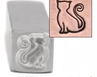 The Cat Sadie Metal Design Stamp 6.5mm wide by 7.5mm high - Beaducation Original