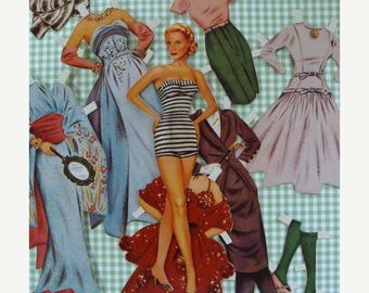 ON SALE Vintage Cut out Paper Dolls Numbered Shackman Paper Doll Lot