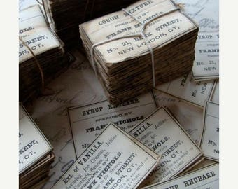 ON SALE Pharmacy and Drug Co. Medical Labels Antique 1900s