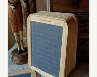 ONSALE Vintage Farmhouse Decor  Unused Double Sided School Slate Board Chalk Board, Farmhouse Chic White Decor for Menu