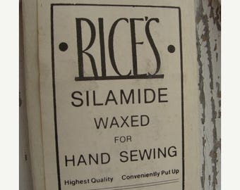 ONSALE Antique High Quality Waxed Thread for Hand Sewing and Doll Hair unused NIP 675 Yards