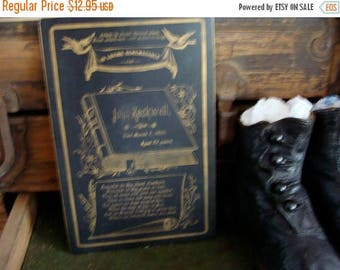 ONSALE Antique Funeral Remembrance Cabinet Card Creepy Halloween Decor