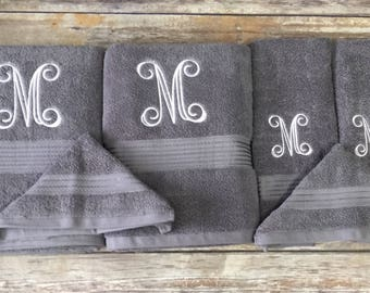 Personalized towel set, personalized bath set, custom bath towels