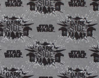 Star Wars The Last Jedi Dark Side FLANNEL Fabric sold by the yard and by the half yard