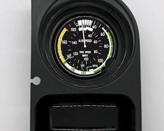 Aviation Airspeed Indicator Round Car Cupholder Coaster