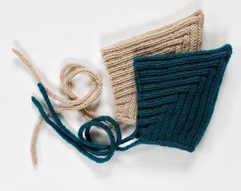 Ribbed Pixie Bonnet