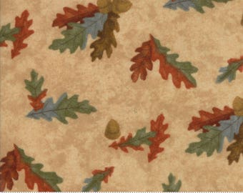 Sesame Brown Fall Impressions Flannel Fabric - 6702 11F - Holly Taylor - Moda