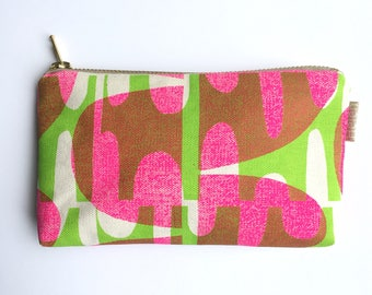 Rock & Ripple print purse pouch makeup bag