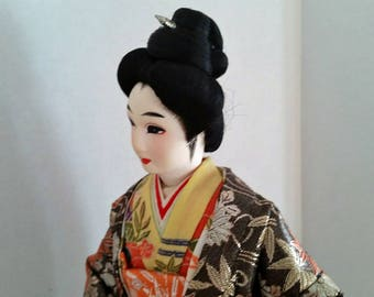 Vintage Large Japanese Geisha Doll