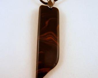 Mahogany obsibium Pendant necklace jewlery hand made