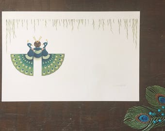 Flora and the Peacocks: Friends of a Feather Limited Edition Signed Print