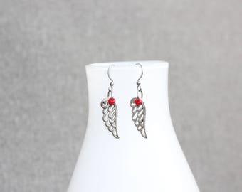 boucles d'oreilles feuille,bijoux mode, Boucles d'oreille ado,bird earring, jewelry, gift, cadeau pour elle, st-valentin, valentine day