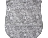 Sea Urchins Extra Large Adult Bib - handmade, waterproof, vinyl covered adult bib with pocket
