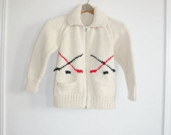 SALE // Vintage Child's Hockey Cowichan Sweater