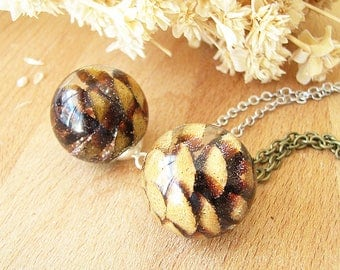 Pinecone Necklace Resin Jewelry Autumn Necklace Pine Cone Necklace Resin Necklace