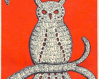 Owl Applique Crochet Pattern Vintage 723054
