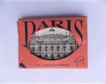 Vintage Pack of 20 Paris France Miniature Photos by Guy
