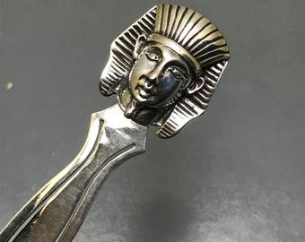 Vintage Repousse Bookmark . Egyptian Revival . Sterling silver