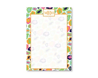 Leopard Pattern Notebook - Monogram Pad