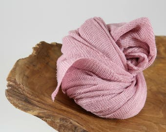 Pink Newborn Stretch Knit Wrap Photo Props, Wide Swaddling Blanket Wrap, Baby Girl Photo Props, Knit Baby Wrap , Ready to Ship, RouGe LuX