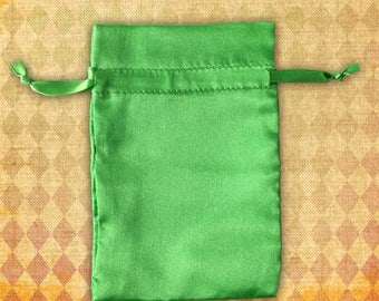 Green Satin Wedding Favor Bags 4x6 | Jewelry Pouch Craft Show Packaging | Jewel Tones Emerald Green | Wholesale Destash Sample Sale 28 4x6