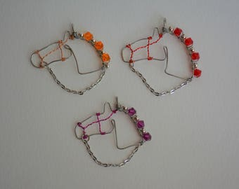 Wire Wrapped Crystal Horse Pendant