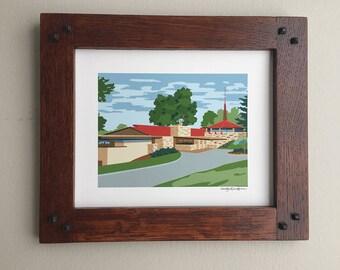 Taliesin Visitor Center, Frank Lloyd Wright designed, 8x10 art print