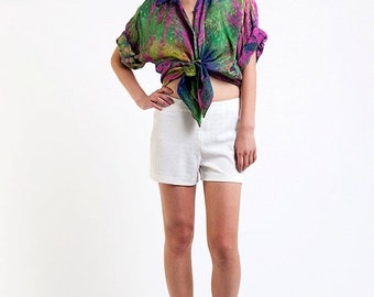 40% OFF The Vintage Multicolor Groove It On Tie Dye Shirt Blouse