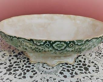 Antique Minton Mercer Green Pattern China