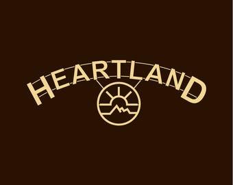 HEARTLAND RANCH t-shirt Amber Marshall Graham Wardle Dark Chocolate