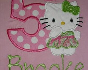 Hello Kitty Applique Birthday shirt