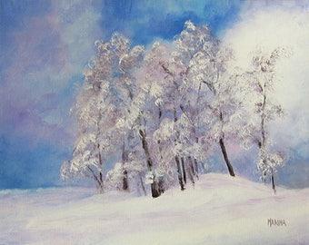 Landscape Painting, Winter Landscape, Original Painting, Original Landscape Oil, Home Decor, Wall Decor