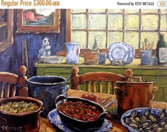 On Sale Company for Dinner Original Still Life - Oil Painting Created by Richard T. Pranke