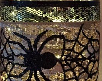 Halloween Lighted Mason Jar - Spider Twinkle Jar