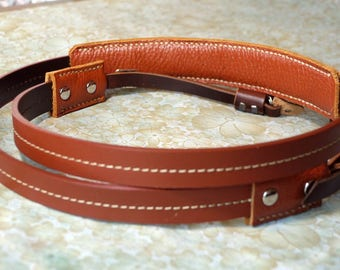 Personalize Leather Camera Strap Custom Leather Camera Strap Artisan Leather camera Strap Classic Leather Strap in Tan Color