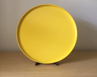 large heller yellow serving platters - 3 available