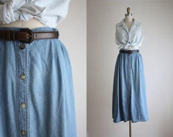 ultrasoft denim work skirt