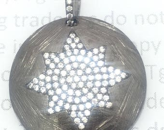 Snow flake on coin