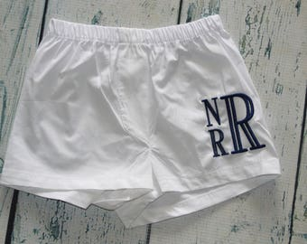 Monogrammed Baby Boy Boxers, Personalized Boys Diaper Cover, Monogram Baby Boy Bloomer  Infant Toddler