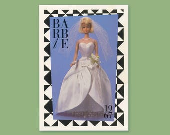 "Barbie Collectible Trading Card - ""Beautiful Bride"" -Card No. 71 for Barbie collectors, dioramas, 1988 Barbie history 5527-0084"