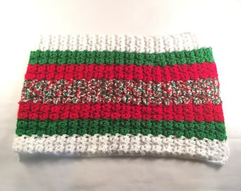 Christmas Striped Pet Blanket