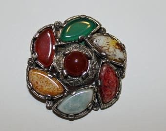 Vintage Stone Brooch