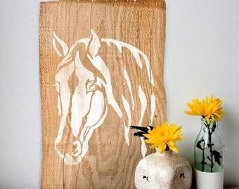Horse Head Wall Stencil - Reusable Stencils - DIY Home Décor - Easy DIY