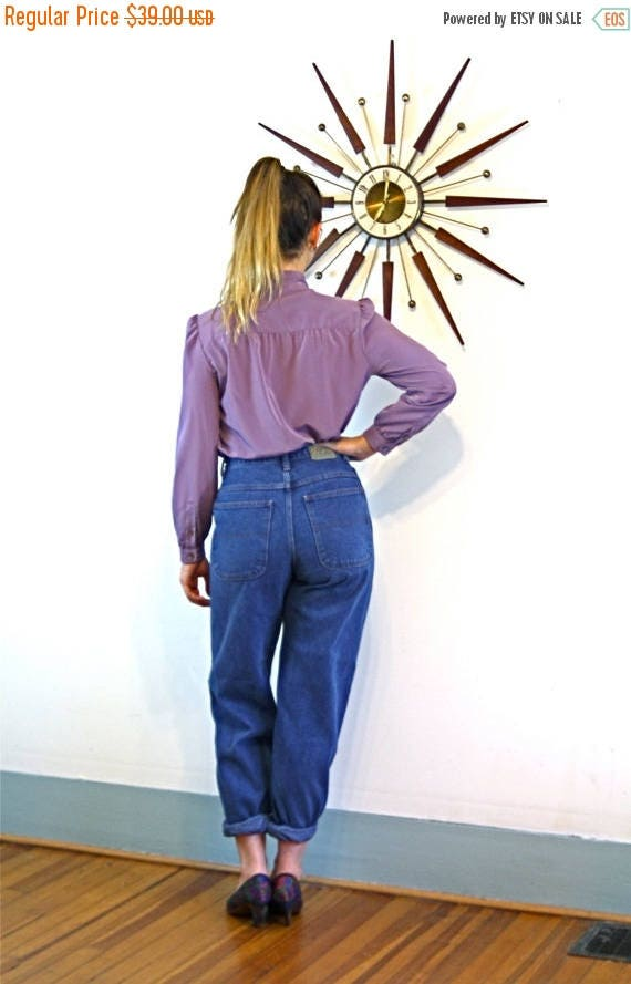 SALE 50% OFF Vintage 80s Mom Jeans BOGARE High Waisted Pleated Super High Waist 1980s Medium Wash Denim Blue Jean Pants Ladies Women's Size