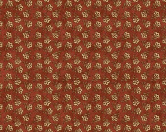 """NEW Chicks on the Run Craft 100% Cotton Quilt Fabric 44"""" wide X ONE Yard -Red Flowers"""