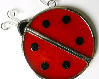 Stained Glass Ladybug Sun Catcher