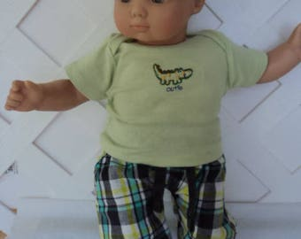 Bitty Baby Boy 2 pc. cute Dino  pants set, doll clothes